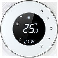 Decdeal Kamerthermostaat, gasketelverwarming, wifi, rond lcd-touchscreen, programmeerbare thermostaat met…