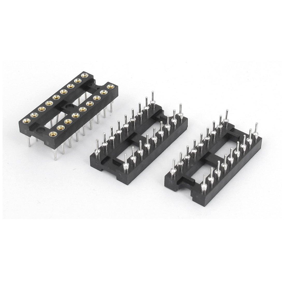 Soldadura Tipo 2 Fila 18 pines de circuitos integrados DIP Zócalos CI 3PCS: Amazon.es: Electrónica