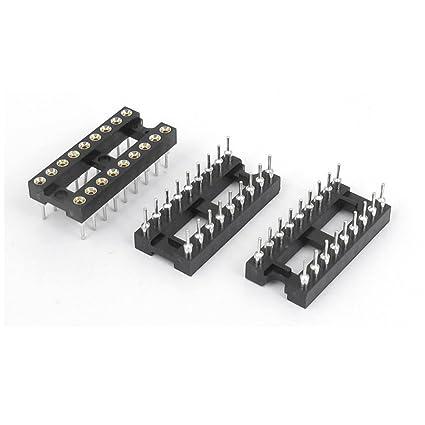 Soldadura Tipo 2 Fila 18 pines de circuitos integrados DIP Zócalos CI 3PCS