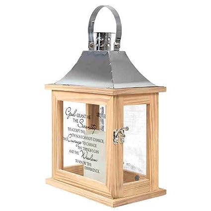 Amazon Com Carson Memorial Lantern Serenity Prayer Home Decor Home