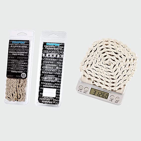 Electroplated Silver Rust-Proof Mountain Road Bike Chain 10 Speed VOANZO Bicycle Chain