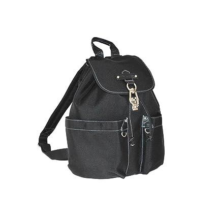 Katana - Sac a dos multi-poches Nylon garni Cuir - Noir 0GeJsz