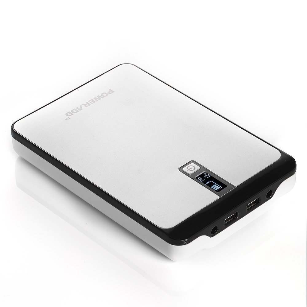 Poweradd Pilot Pro 32000mAh Power Bank Dual USB Port 4.5A (9V-20V DC Output) with Digital LCD Display for Smartphones, Tablets, Pocket PC, Notebook, Chromebook, Macbook and More