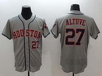 on sale 548cc 827bb Men's #27 Jose Altuve Baseball Home Jersey White M: Amazon ...
