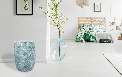 Kayoom sgabello in metallo design bianco sgabello blu moderno
