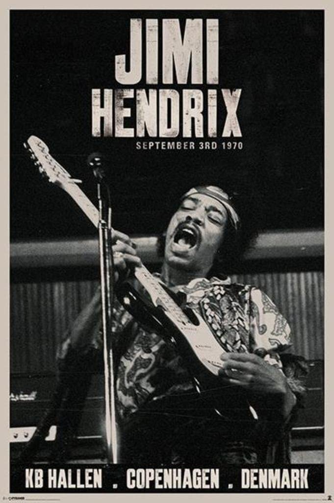 Pyramid America Jimi Hendrix Copenhagen Concert Music Cool Wall Decor Art Print Poster 24x36