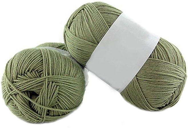 1 lana de bambú para tejer de 50 g por madeja de algodón suave de punto para bebé Amesii #17 Cyan-blue: Amazon.es: Hogar