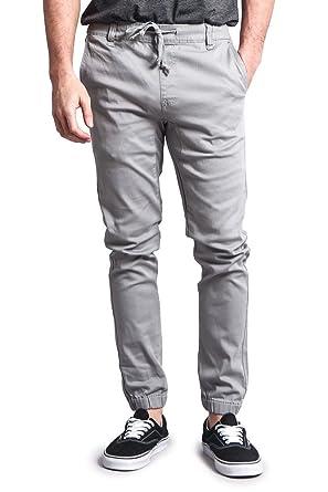 8561ae50746d70 G-Style USA Mens Twill Skinny Jogger Pants at Amazon Men's Clothing ...