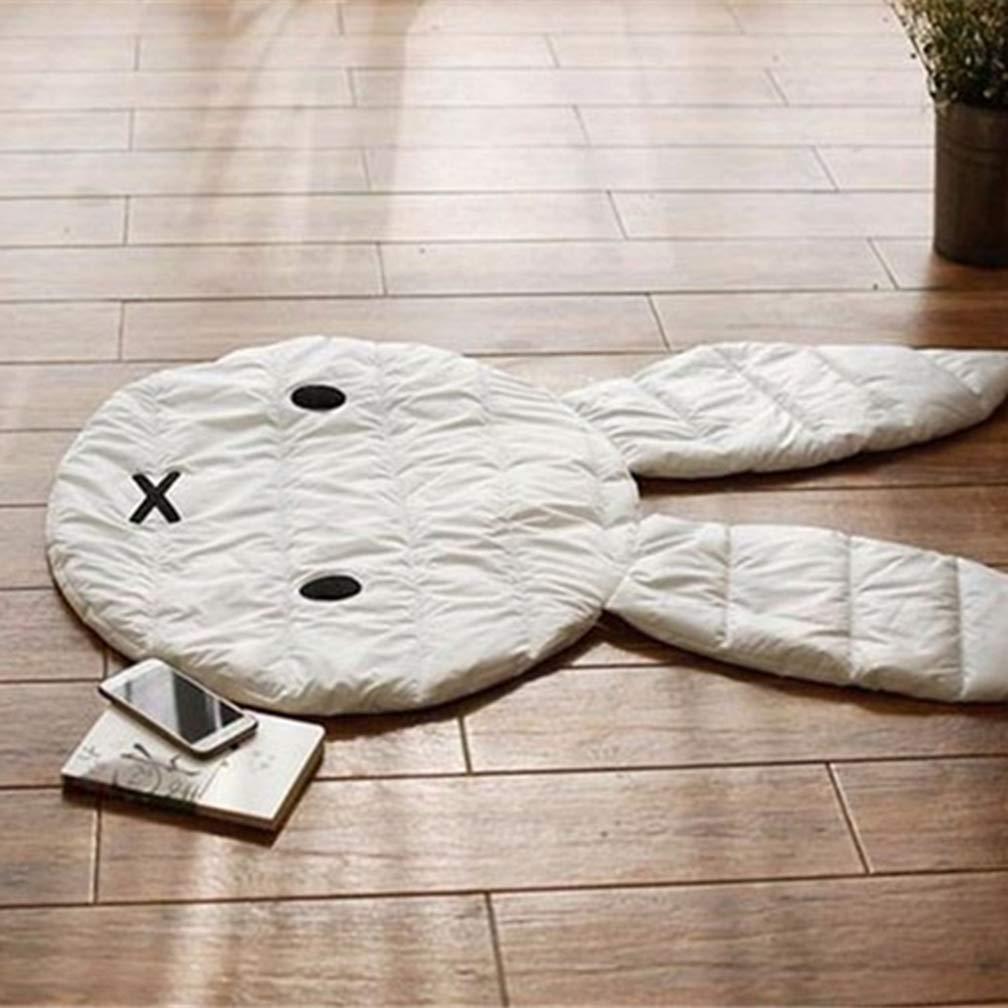 Wuudi Cute Rabbit Baby Crawling Mat Baby Floor Play Mat Room Decoration Carpet