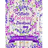 Color The Proverbs: Catholic Coloring Devotional: A Unique White & Black Background Paper Catholic Bible Adult Coloring Book For Women Men Children & Seniors Featuring Large Print Hand Lettering Christian Scripture With Beginner Patterns, Cute Doodles, Verses, Easy Geometric Designs & Illustrated Quotes