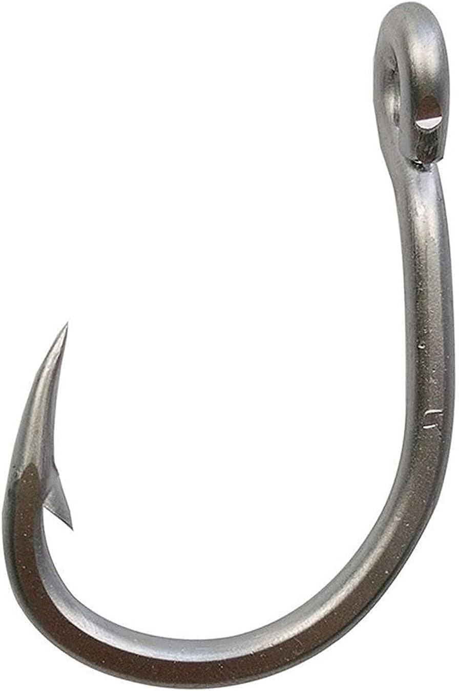 Big Game Saltwater Fishing Circle Hooks 20PCS Live Bait Fishing Hook 3X Stronger Stainless Steel Fish Hooks Jig Bait Fish Hooks Size 2//0-12//0
