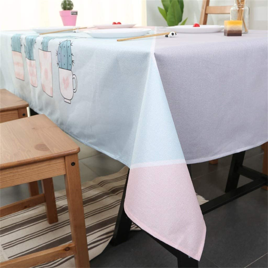 Waterproof Tablecloth Dining Room Table Cover Home Outdoor Picnic 1PC Pure Color