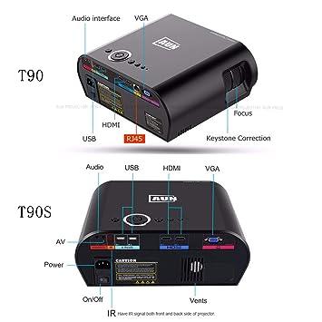 jkl Proyector Led pequeño T90S 3200 Lux, Control Deslizante de 220 ...