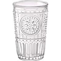 Bormioli Rocco Romantic Water Glass [Set Of 4] | 10.25 oz Premium Glass Set For Refreshments, Soda & Beverages | Italian Quality Glassware, Perfect For Dinner Parties, Bars & Restaurants