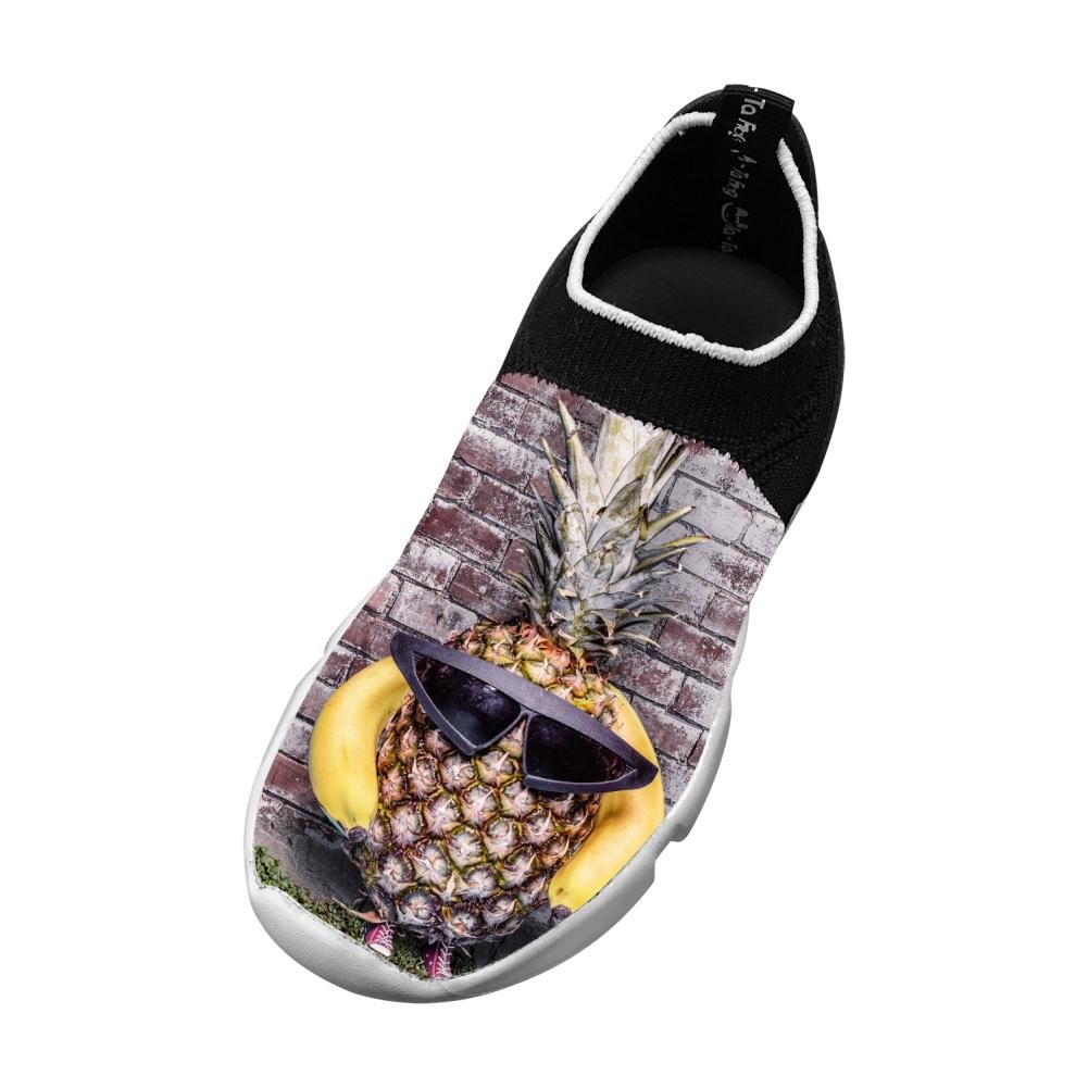Sports Flywire Knitting Sneaker For Unisex Child,Print Pineapple Sunglasses,1 D(M) Us Big Kid
