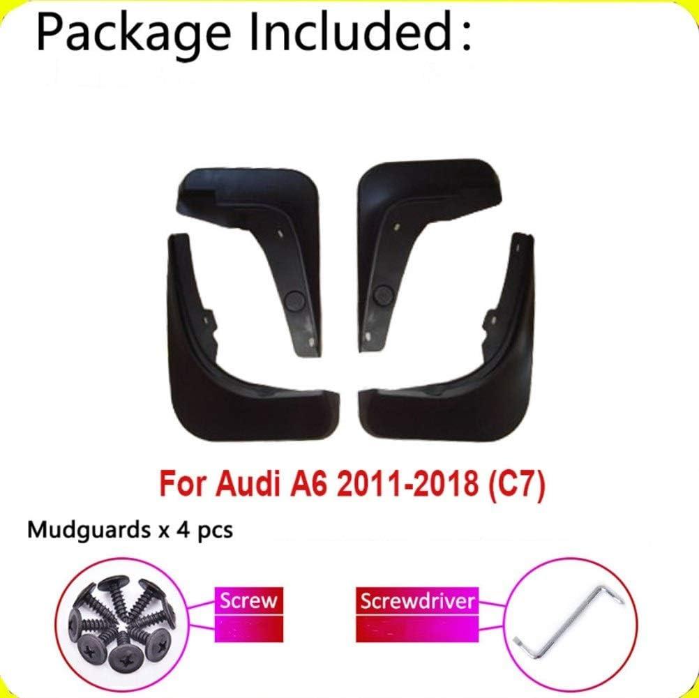 Color : A Aletas de barro For Mudfla Audi A6 sed/án cuarto sal/ón Avant C7 4 Gen 2018~2011 Fender Mud Splash Guardia Flaps Guardabarros Accesorios