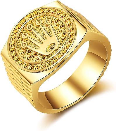 Special&kind Preferred Fashion Hip Hop 18K Gold Iced Out Crown Ring für Herren Verlobung Hochzeit Party Ringe Schmuck für Geburtstag, Valentinstag,