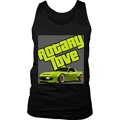 Rotary Love RX7 Mazda Tuner JDM Tank Top at Amazon Men\'s Clothing store: