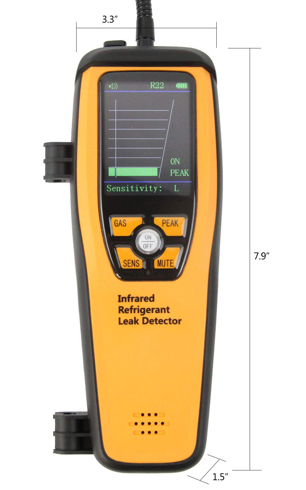 Elitech ILD-300 Advanced Refrigerant Leak Detector Halogen Tester for HVAC Rechargeable CFCs HCFCs HFCs 10 Years' Life 【3 Years Warranty】 by Elitech (Image #4)
