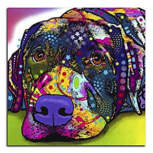 "Colorful Labrador Metal Wall Art 16""X16"""