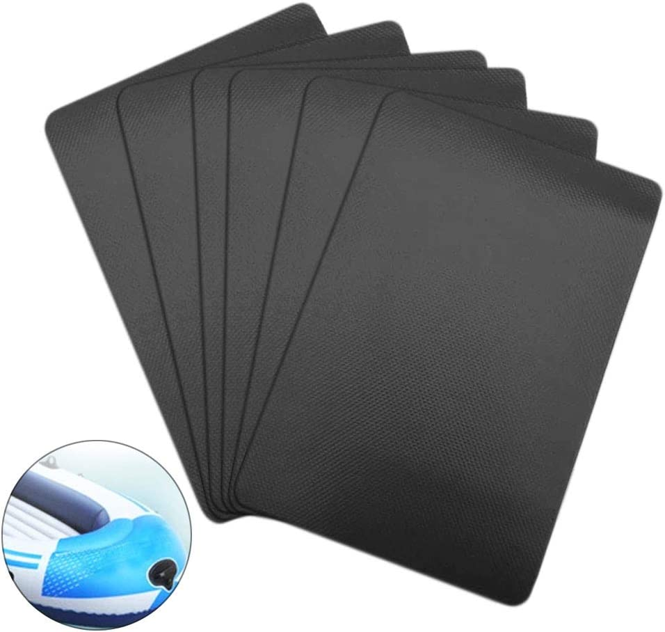 PVC Patch Kit for Inflatables Waterproof,6 Pcs PVC Boat Repair Kit for Inflatable Boat Kayak Canoe Pool