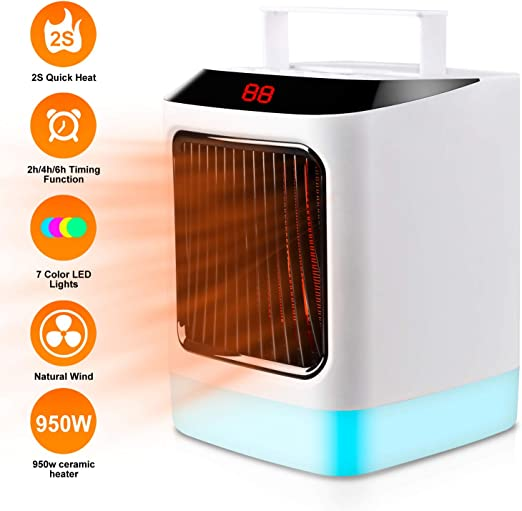 2 In1 950w Portable Electric Ceramic Space Heaters For Indoor Use