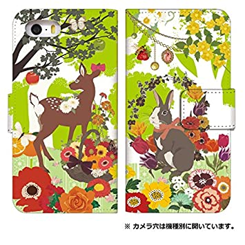 f7541b7991 スマホケース 手帳型 アイフォンse 手帳型ケース 8026-A. うさぎとバンビ iphone5