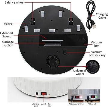 Delaspe Aspirador Robot 3 en 1, Robot de Barrido anticolisión, Aspirador USB, Aspirador Recargable, para Limpieza doméstica: Amazon.es: Hogar