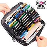 RFID Blocking Wallet Long Anti Theft Purse, 36 Slots Large Capacity for Credit Card, Passport, Cell phone