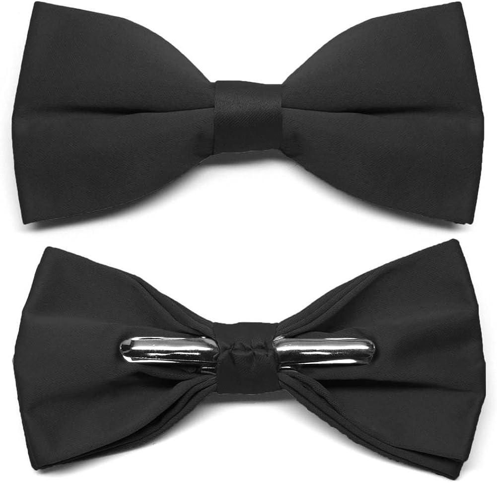 TieMart Black Clip-On Bow Tie