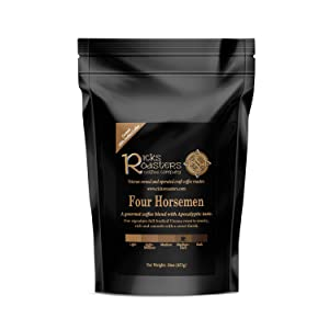 Ricks Roasters Coffee   Four Horsemen Specialty Blend   1 Pound (1 lb) Ground   Pacific, Central American, African & Espresso Beans   USA Veteran Owned & Operated