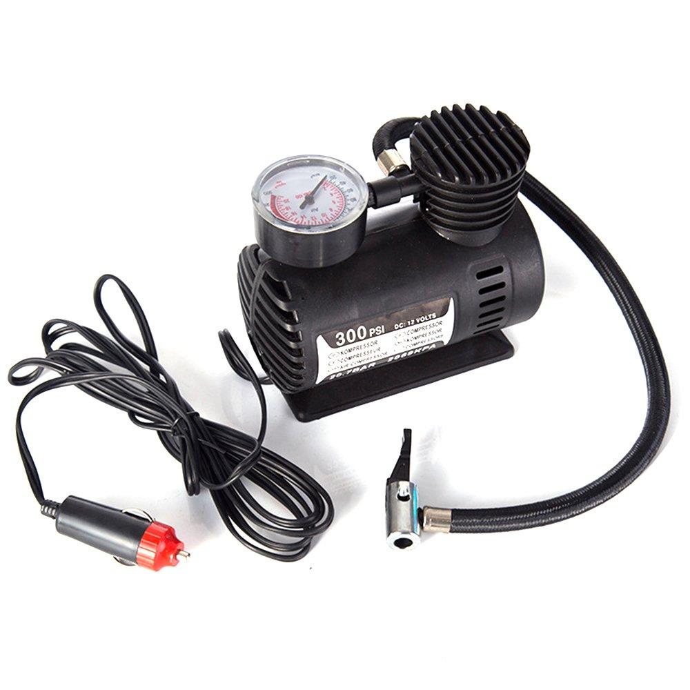 KKmoon Auto Mini Elektrische Inflationspumpe Tragbare Reifenluftpumpe 300PSI Automatische Kompressorpumpe fü r Auto Fahrrad Motorrad Basketball