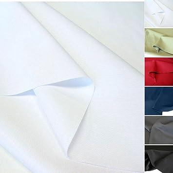 weißer Baumwoll-Stoff robust für Polster Möbel Bekeidung Canvas Segeltuch Tolko