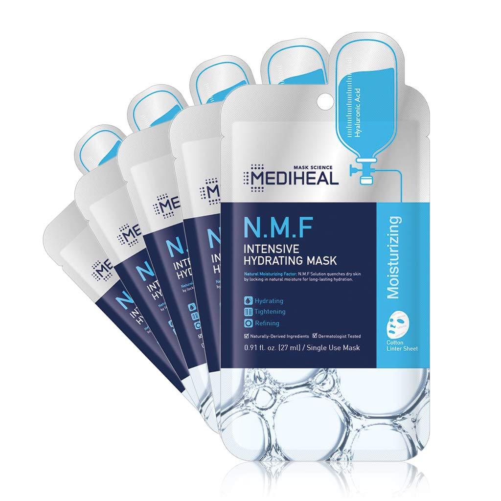 MEDIHEAL Official [Korea's No 1 Sheet Mask] - N.M.F Intensive Hydrating Mask (5 Masks)
