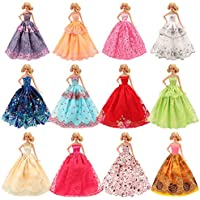 Barwa 5 Pcs Handmade Fashion Wedding Party Gown Dresses &...