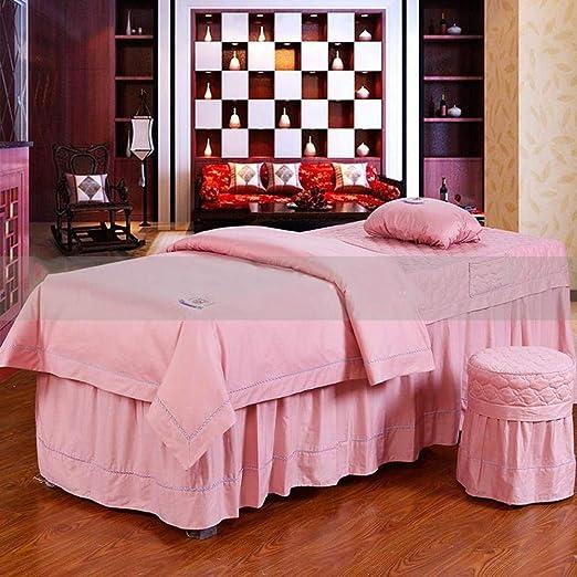 AMY Premium Algodón Juego de sábanas para Camilla de Masaje Falda ...