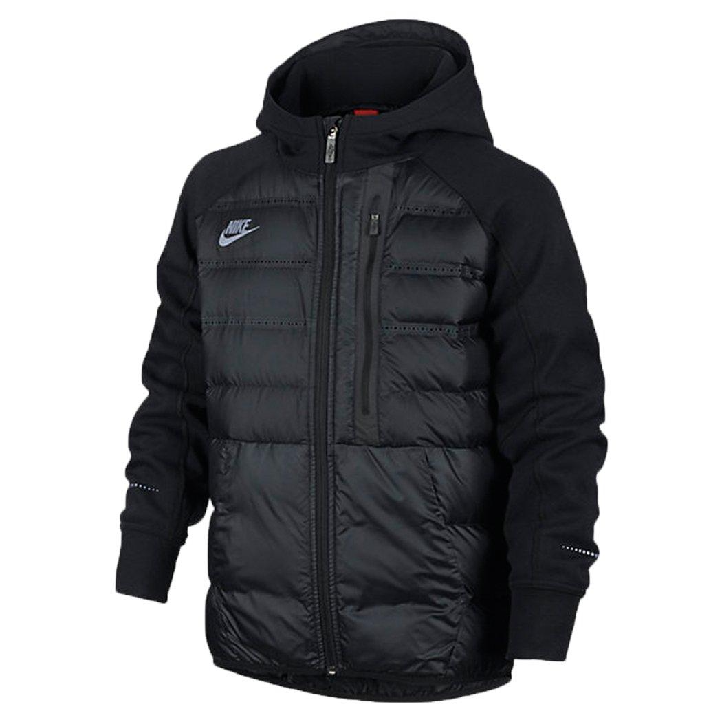 Nike Boys Aeroloft Tech Fleece Jacket Down Black (Small) by NIKE