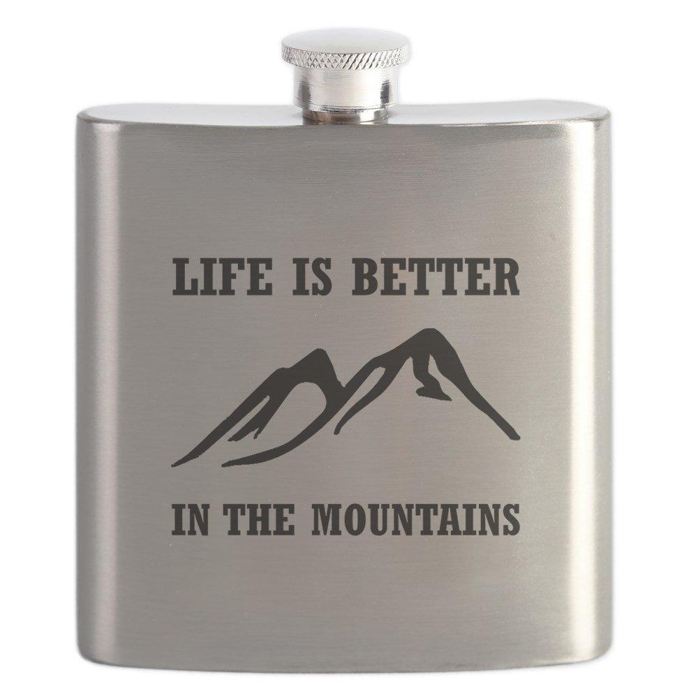 素晴らしい品質 CafePress – Better CafePress In Mountains – – B01IUFFHTK ステンレススチールフラスコ、6オンスDrinkingフラスコ B01IUFFHTK, 時計のソフィアス:719ae005 --- west-llc.com