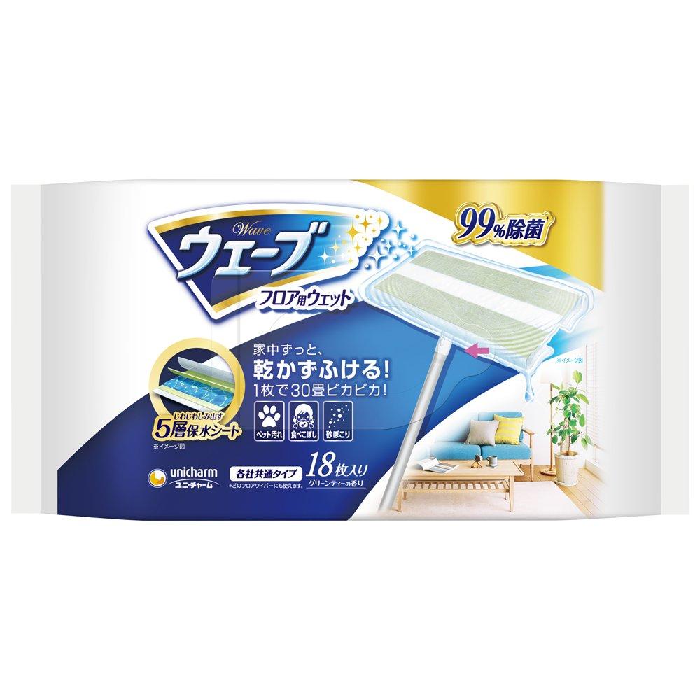 ユニ・チャーム ウェ−ブ フロア用ウェットシート 99%除菌 18枚