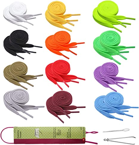 Replacement Drawstrings for Sweatpants Shorts Hoodies with Flexible Threader Universal Drawstrings for Jackets Swim Trunks Shoe Laces Tote Bags,15 Pack 51 Length