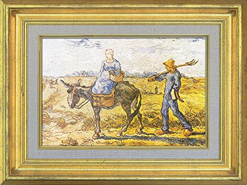 Creative 3D Visual Effect Wall Mural Peasant Couple Going to Work (After Millet) by Vincent Van Gogh Peel Stick Wall Decor