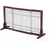 Pawhut Barrière Bois Extensible rétractable barrière de sécurité 58-100L x 32l x 53H cm Bois de pin métal