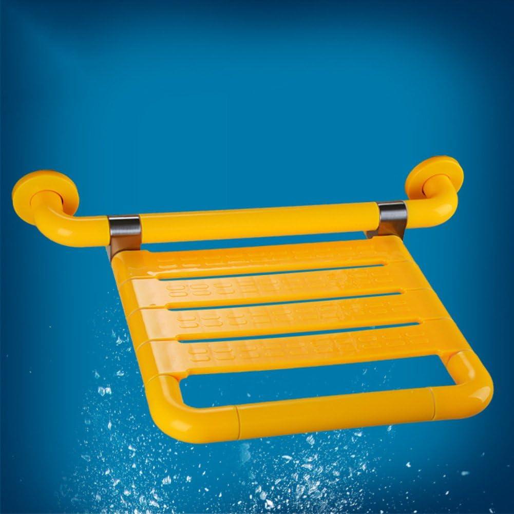 Asiento para ducha,Asientos plegables Silla de ducha accesible para sillas de ruedas Cuarto de baño Pueblo viejo Placas de asiento Cambio de zapatos-amarillo