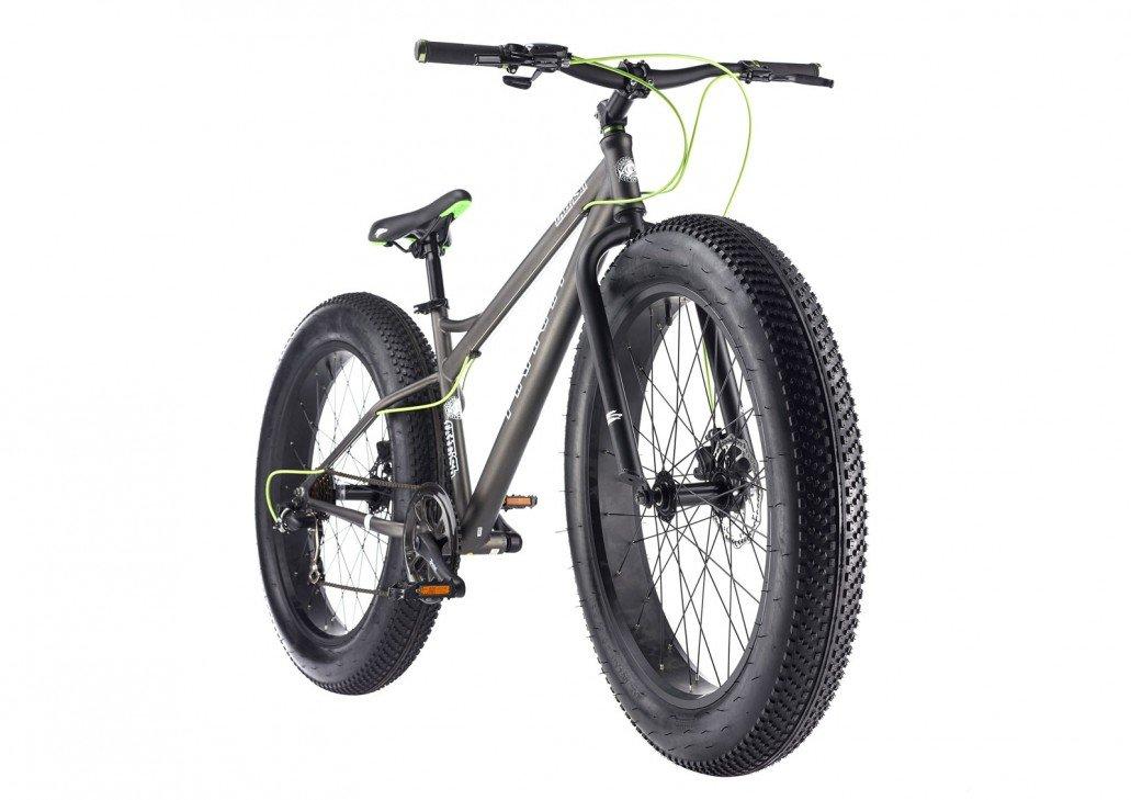 95169bd5455 26 x 4.0 Piranha 26 W Fat Fatbike Fat Tyre RH - 17 ', grey/green:  Amazon.co.uk: Sports & Outdoors