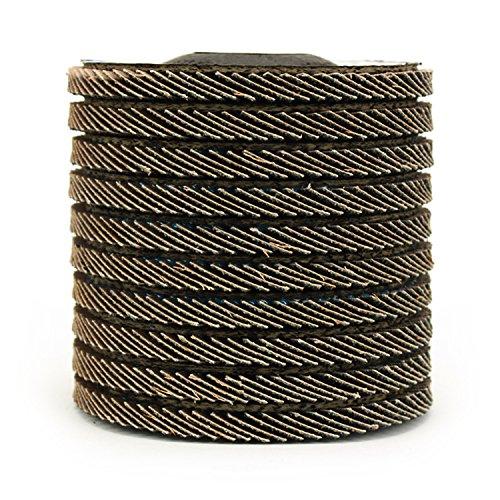 10 Pack 4-1/2'' x 7/8'' Black Hawk Zirconia Grinding & Sanding Flap Discs T29 (60 Grit) by Black Hawk (Image #2)