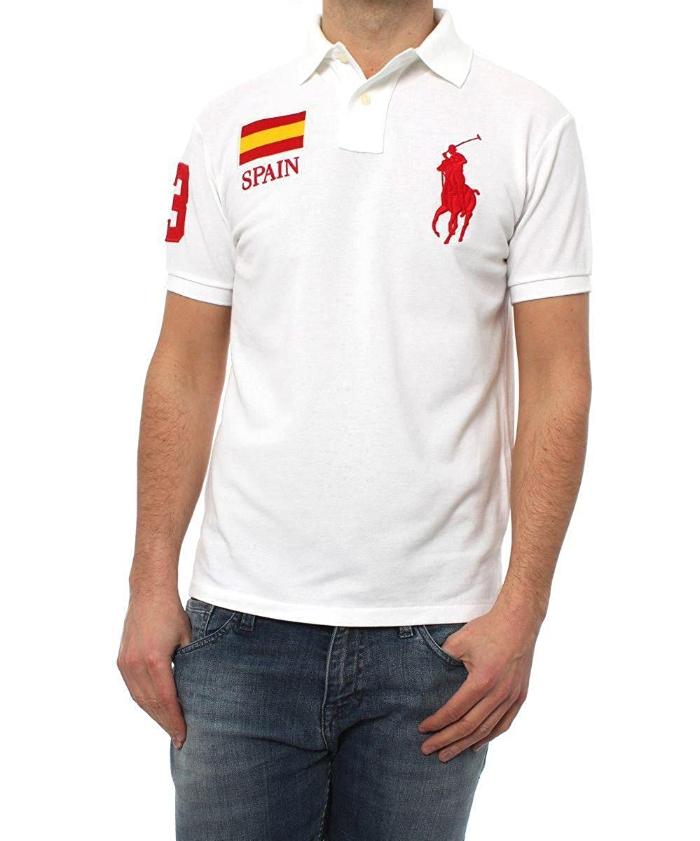 Polo Ralph Lauren Mundial España Blanco XL Blanco: Amazon.es ...