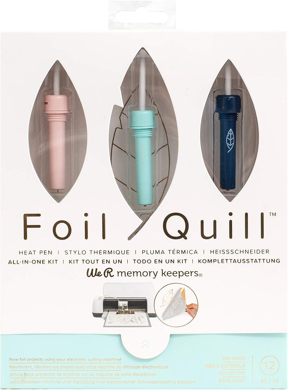 We R Memory Keepers Kit de Inicio Foil Quill, El Set Incluye más de 12 Artículos, CREA Diseños Brillantes para la Fabricación de Tarjetas, Scrapbooking, Journaling y más, Multicolor, tamaño único