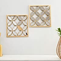 Home Centre Photomontage Mirror Wall Art - Set of 2 Pieces - Gold