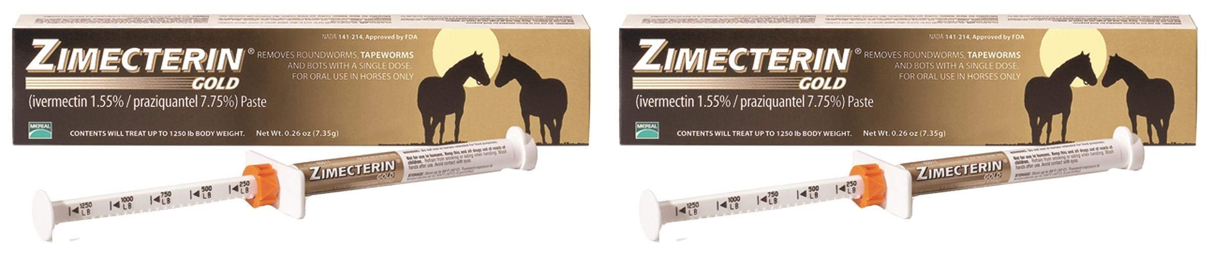 Merial Zimecterin Gold Dewormer Paste for Horses, 7.35gm (Тwo Рack) by Merial