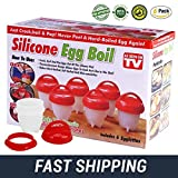 #8: Egglettes Egg Cooker - Soft & Hard Egg Boiler - Egg Cooking Cup BPA Free, Non-Stick Silicone - AS SEEN ON TV